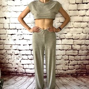Fashion Nova Netflix Chill 2 piece set khaki sz S